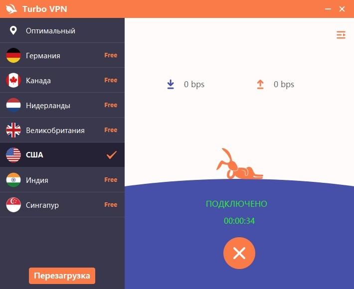 Работа VPN-клиента в режиме подключено